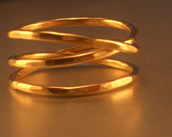 Gold Filled Mobius Ring by donnaodesigns