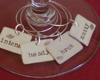 Wine Charm Conversation Starter Hostess Gift by donnaodesigns