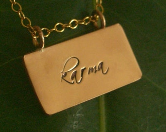Gold Filled Karma Necklace by donnaodesigns