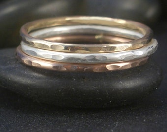 Mixed Metals Stacking Set by donnaodesigns