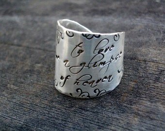 Signature Wide Band Message Ring by donnaodesigns