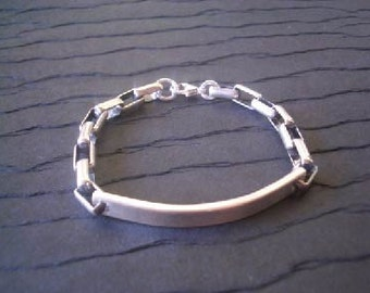 Hand Stamped Infinity ID Bracelet by donnaodesigns