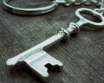 Sterling Key Key Ring