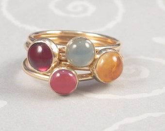 Gold Filled Stacking Rings by donnaodesigns
