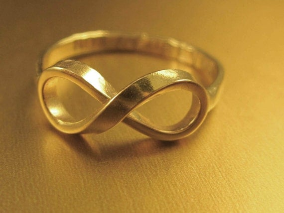 Solid Gold NOW & FOREVER Infinity Ring for tbyandrew