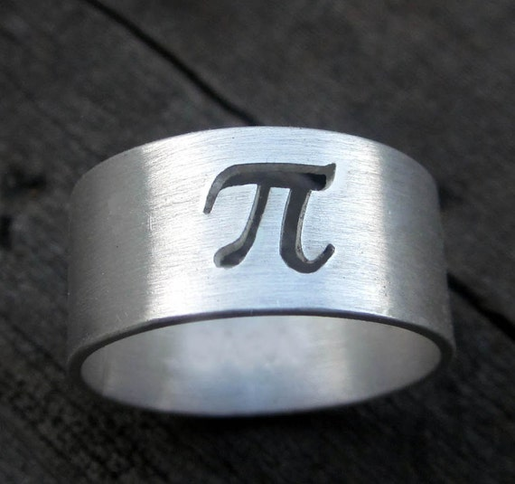 Sterling Pi Ring by donnaodesigns
