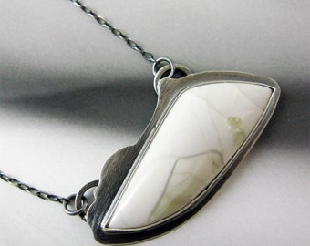 Mountain Sky Necklace with Willow Creek Jasper // Sterling Silver