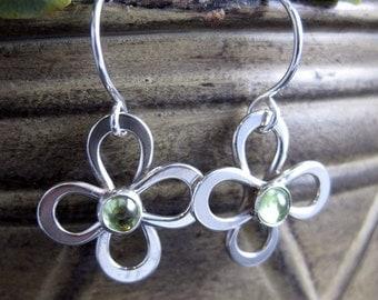 Daisy Drop Earrings with Gemstone
