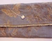 Wallet Blue Cream butterfly