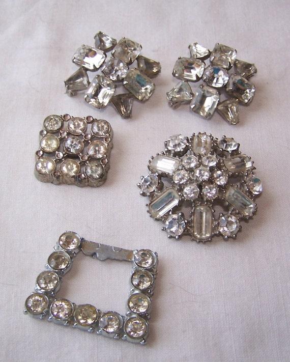 Rhinestones, Button, Pins, Shoe Clip, Sale