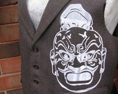 Samurai Warrior Suit Vest White/Grey