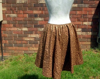 Metallic Leaves Steampunk Skirt with Bustle Clips