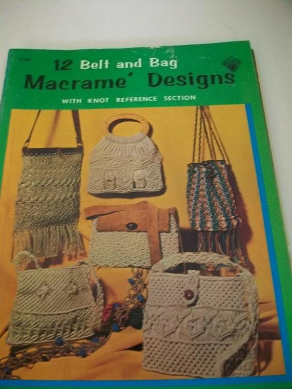 Macrame Belt Bag Purse Patterns Vintage
