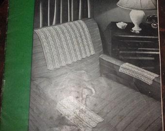1950's J&P Coats Chair Sets Crochet Booklet
