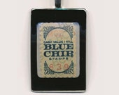 For Charity Pendant Charm Blue Chip Redemption Stamp Genuine Vintage