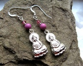 Quan Yin Silver and Swarovski Crystals Earrings