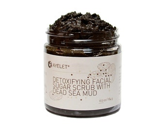 Detoxifying Facial Scrub Polish with Dead Sea Mud| Exfoliating Scrub| Organic Facial Scrub| Facial Scrub| Cleansing Scrub| Gift her