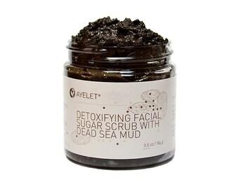 Detoxifying Facial Scrub With Dead Sea Mud| Facial Sugar Scrub| Exfoliating Facial Scrub| Mineral Facial Scrub| Natural Facial Scrub|  Vegan