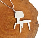 Metal Jewelry - Modern Eames Chair Necklace