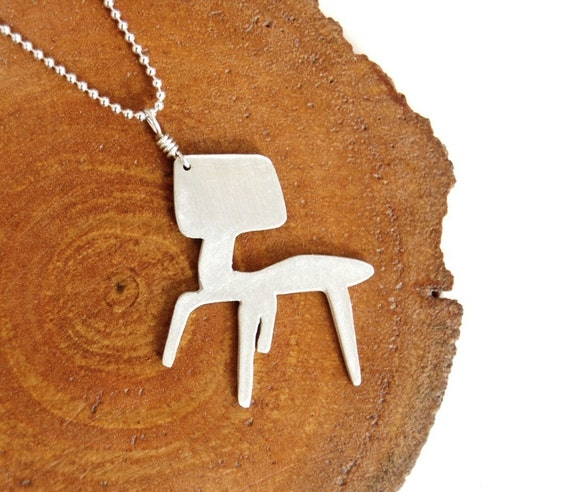 Mid-Century Modern Eames Chair Necklace