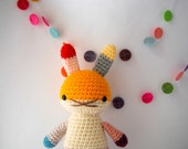 children toy amigurumi crochet rabbit doll rainbow .. underpants rabbit 3 .. toy