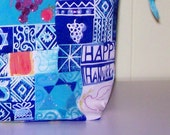 Hanukkah knitting project bag by AnniePurl