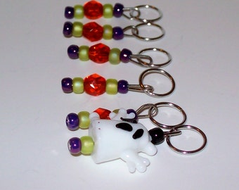 Spooky stitch markers by AnniePurl