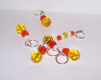 Candy Corn stitch markers by Annie Purl