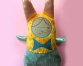 yellow velvet bunny
