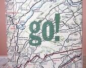 Hand Bound Map Travel Notebook