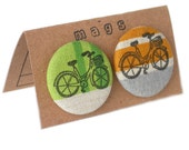Bicycle Fabric Magnets - Set of 2 - Free Shipping to Canada