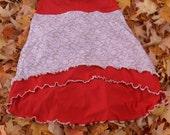 Burnt Orange and Antique Floral Collette Skirt