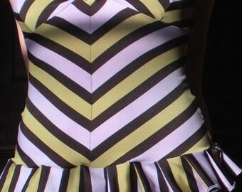Structured Stripes Tankini
