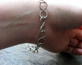 infinite bracelet-- sterling silver chain-- primitive series-- handmade by thebeadedlily on etsy