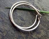 """satin-- hammered hoop earrings, 5/8"""", 3/4"""" or 1""""-- primitive series-- handmade by thebeadedily"""