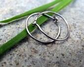 sensitive niobium hoop earrings-- primitive series-- handmade by thebeadedlily
