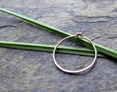 sterling silver hoops-- barely there 28g-- primitive series-- ether by thebeadedlily on etsy