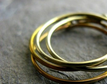 anodized niobium hoops-- gold yellow or copper orange-- handmade by thebeadedlily