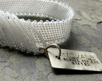 inside jokes-- Midvale bracelet-- handmade by thebeadedlily