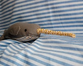 Gray Plaid Narwhal--SALE