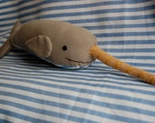 Gray Striped Narwhal--SALE