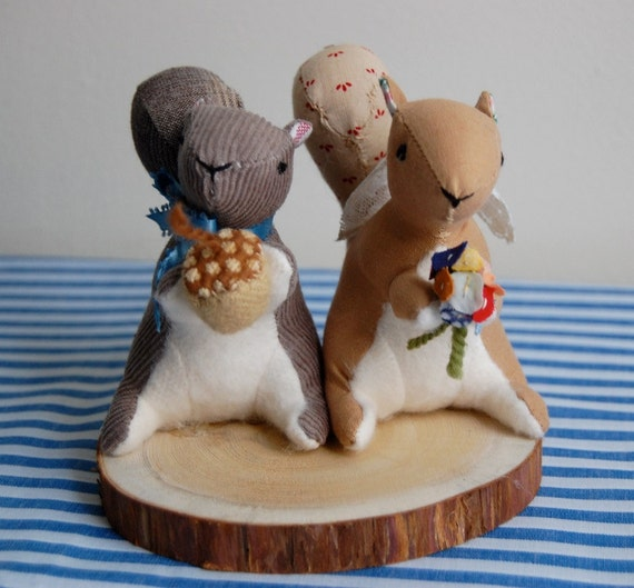 Items Similar To Squirrel Cake Topper On Etsy