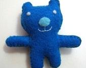 cute blue bear pin cushion