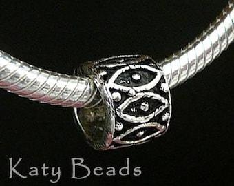 4 assorted Bali Sterling Silver Beads Large Hole fits Biagi Chamilia Troll Pasha