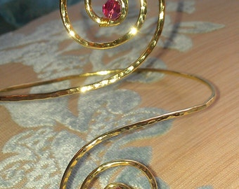 Custom Arm Cuff Created by You, Arm Band, Armlet - Great for Special Occasions - Birthstone Jewelry