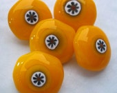 Goldenrod yellow mille fiori buttons