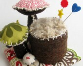 Fabric Topiary with Mushrooms - No. 265
