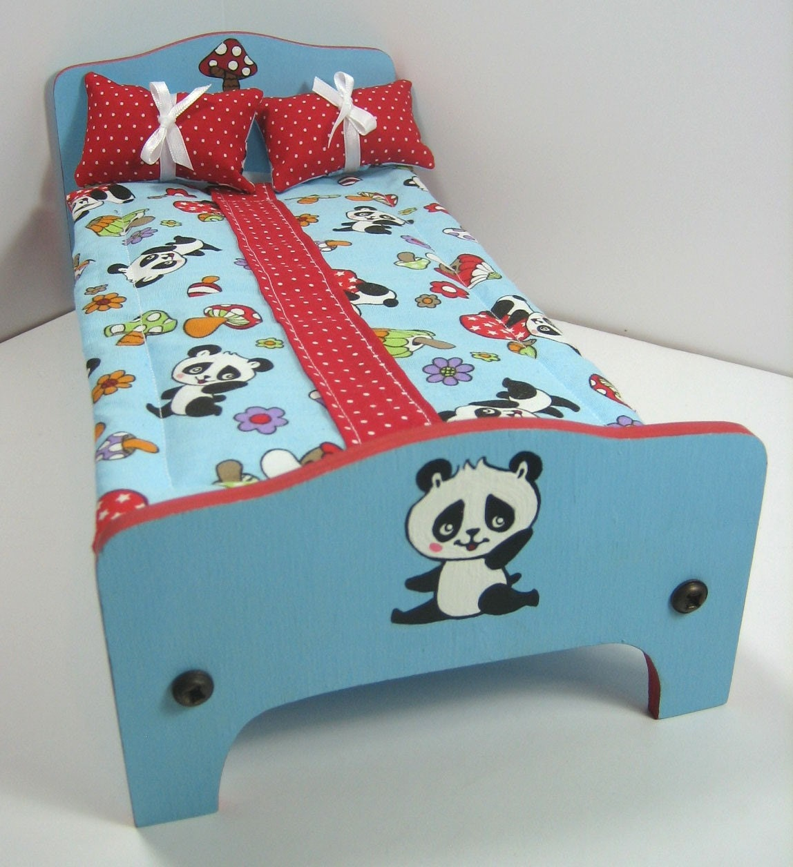 Bedroom Lighting Walmart Red And Blue Bedroom Teenage Bedroom Accessories Very Tiny Bedroom Design Ideas: Light Blue And Red Panda Twin Bed With Bedding By