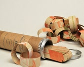 recycled letterpress paper chain, 8ft swag. limited edition: kraft