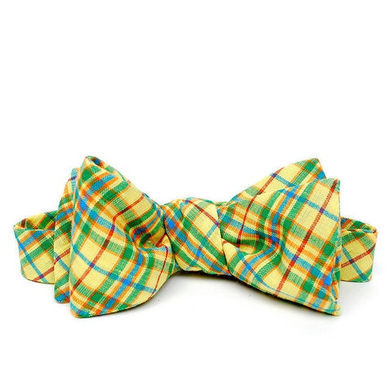 FORAGE sample sale. bow tie / yellow & green